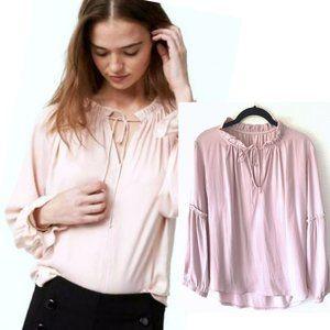 LOFT Blush Pink Poet long sleeve blouse